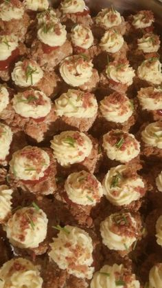 Meatloaf and Duchess potato cupcakes... Not Enough Thyme Catering (636)235-6094 www.notenoughthymecatering.com  https://m.facebook.com/caterernet  Www.pinterest.com/lgutterman