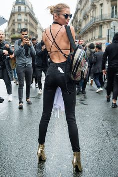 Supermodel street style from Paris couture  - HarpersBAZAAR.co.uk