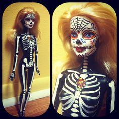 "New model Barbie - Zombie Barbie ""Day of the Dead Barbie"""