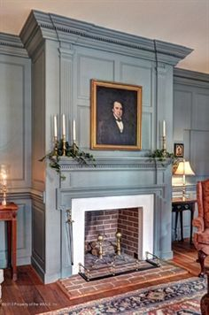 FARMHOUSE – INTERIOR – a classic colonial fireplace that can be found in many federal and georgian styled farmhouses.