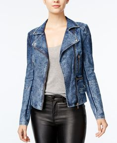 c6cab4eef50 Marilyn Monroe Juniors  Zipper-Pocket Denim Moto Jacket