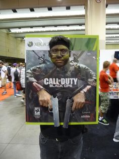 Call of Duty photo - would love to make something like this for pics at the party