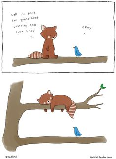 lizclimo:  I finally drew a red panda, because RED PANDA <3 Check him out in my new book Lobster is The Best Medicine (out in Oct!) along with a bunch of other new characters. I'll be introducing a new one every few weeks from now until the book is out :) Pre-order available here
