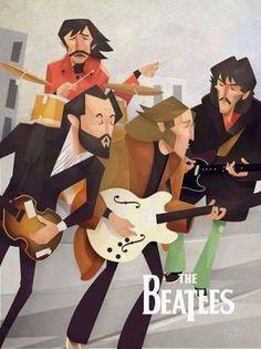 Roof concert Beatles Love, Les Beatles, Beatles Art, Hello Beatles, Beatles Guitar, Guitar Solo, Ringo Starr, Rock And Roll, Comic Cat