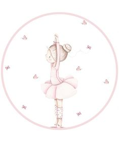 Vinilos para puertas - Il Mondo di Alex Ballerina Birthday Parties, Ballerina Party, Ballerina Dancing, Little Ballerina, Cartoon Drawings, Cute Drawings, Ballerina Nursery, Simple Birthday Cards, Personalised Frames