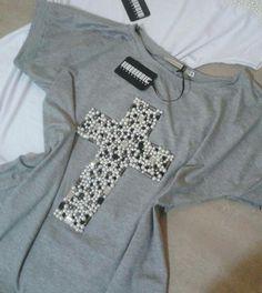 T Shirt Diy, My T Shirt, Diy Vetement, Diy Tops, T Shorts, Diy Clothing, Refashion, Diy Fashion, Casual Chic