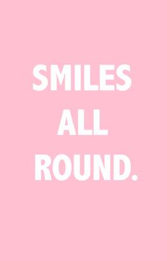 Smiles are infectious!