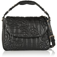 Versace Quilted leather shoulder bag ($860) ❤ liked on Polyvore