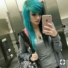 Emo Hairstyles for Girls . Emo Hairstyles for Girls – Latest Popular Emo Girls' Haircuts Pictures . 2014 Short Red Hairstyle with Side Swept Bangs for Girls Emo Girl Hairstyles, Sleek Hairstyles, Short Emo Haircuts, Black Emo Hair, Blue Hair, Nu Goth, Bella Hadid, Emo Bangs, Goth Make Up