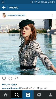 Emma Watson casquette marin
