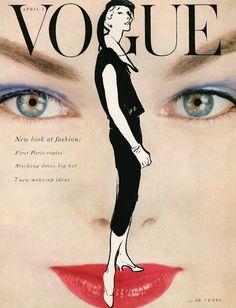 """A Gruau illustration over Blumenfeld photo, April 1945 