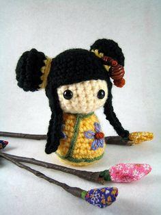 Shu Mei, an amigurumi kokeshi doll | Flickr: Intercambio de fotos