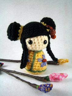 Shu Mei, an amigurumi kokeshi doll | Flickr: Intercambio de fotos