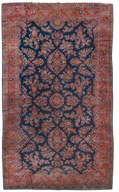 A Persia Kashan Manchester carpet end 19th century. Overall good condition. from cambi casa d'este   manchester kashan rugs and carpets are given such name in attribution to Manchester London, where the wool used in production was imported from Australia refined, then later exported to Kashan for weaving.  This is a very special grade of wool from the Merino sheep, which was quite costly to acquire and only reserved for very fine weavings.