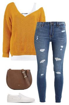 """""""#327"""" by mintgreenb on Polyvore featuring Vince, Boohoo, Hollister Co., Furla and Common Projects"""