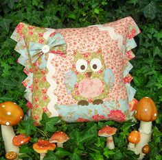 """""""Betty Barn Owl"""" by Sally Giblin of The Rivendale Collection. Finished cushion size: 16"""" x 19½"""""""