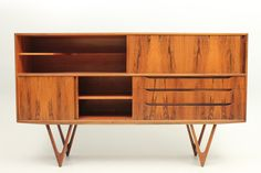 Credenza or sideboard in rosewood. Designed in the mid 1950s by Kurt Østervig and manufactured by K P Møbler, Denmark. www.reModern.dk