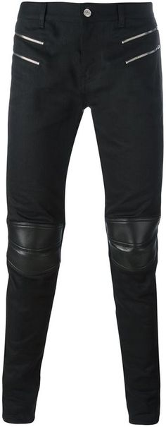 Saint Laurent skinny motorcross jeans Slim Man, Saint Laurent, Leather Pants, Skinny, Stylish, Jeans, Shopping, Tops, Fashion