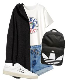 """""""Something"""" by sabrina-espinosa-1 ❤ liked on Polyvore featuring WithChic, Levi's, H&M, Yves Saint Laurent and adidas"""