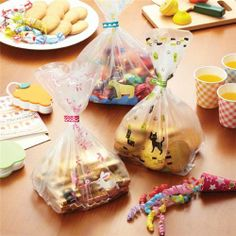 rabbit cat polar bear animals bento candy bags from Japan