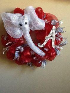 Big AL Deco Mesh ALABAMA wreath by WreathsbyRuthie on Etsy, $55.00