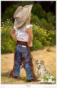 How to dress like a Cowgirl. Little girl with her puppy!Women worshiping the Lord Almighty. Dancing with sea foam green gowns and scarves by the sea. Looks like they are dancing on water. Beautiful. Please also visit www.JustForYouPropheticArt.com for colorful inspirational Prophetic Art and stories. Thank you so much! Blessings!