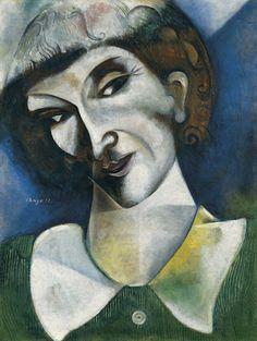 Marc Chagall (Bielorusian-French, 1887-1985)  Self-portrait, 1914