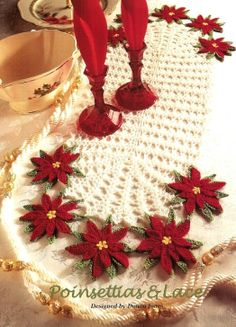 Crochet Poinsettias & Lace