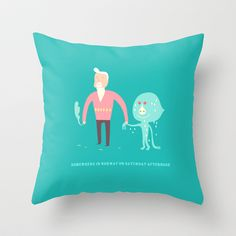 Somewhere in Norway on Saturday afternoon Throw Pillow by simonfoo - $20.00