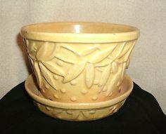 Mccoy Pottery Yellow Planter