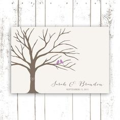 Fingerprint Guest Book Tree  Guest Book por MooseberryPaperCo