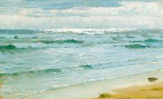 """Sea at Skagen"" (1882, oil on canvas) by P. S. Krøyer"