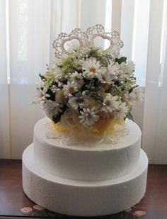 Daisy Wedding Cake Topper Daisies Wedding by flowerfilledweddings
