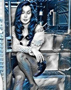 I don't know who drew this of Cher but its awesome