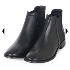 TopShop Keeper Chelsea Booties TopShop Keeper Chelsea Leather Booties. Never worn. Euro size 38 but fit like a SIze 7. Topshop Shoes Ankle Boots & Booties