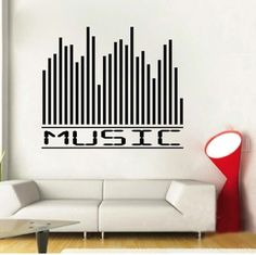 Music Equalizer Wall Decal. Buy it now from www.trendywalldesigns.com