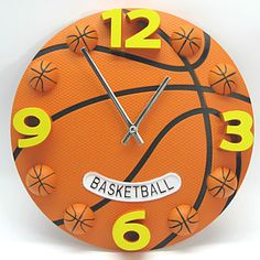 Modern Style Basketball Wall Clock – USD $ 39.99