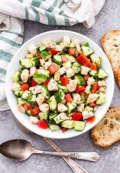 Shrimp Salad Recipes, Cucumber Recipes, Herb Recipes, Healthy Salad Recipes, Cucumber Dip, Cucumber Sandwiches, Healthy Foods, Bread Recipes, Yummy Recipes