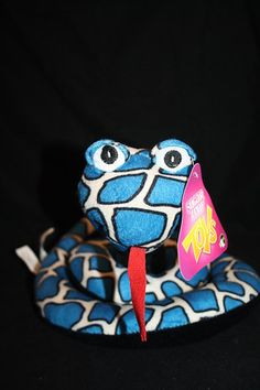"""NEW Sugar Loaf 2011 Plush Snake Blue White Black Coiled NWT 9"""" Tall 5 Around NEN"""