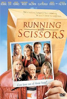 Running With Scissors [PN1995.9.C55 R866 2007] Young Augusten Burroughs absorbs experiences that could make for a shocking memoir: the son of an alcoholic father and an unstable mother, he's handed off to his mother's therapist, Dr. Finch, and spends his adolescent years as a member of Finch's bizarre extended family. Director:Ryan Murphy Writers:Ryan Murphy (screenplay), Augusten Burroughs (book) Stars:Annette Bening, Brian Cox, Joseph Cross