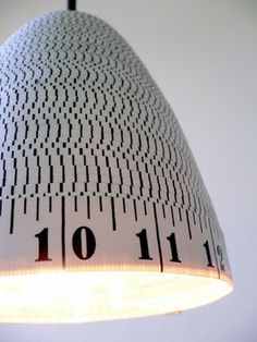 Fabulous lamp for a sewing room.