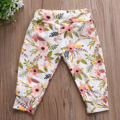 Floral Spring Time Long Pants from kidspetite.com!  Adorable & affordable baby, toddler & kids clothing. Shop from one of the best providers of children apparel at Kids Petite. FREE Worldwide Shipping to over 230+ countries ✈️  www.kidspetite.com  #pants #infant #girl #newborn #baby #clothing