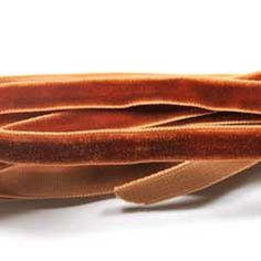 Copper velvet ribbon