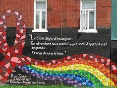 Ron Farha HIV/AIDS Montreal Gay Village Rainbow AIDS Ribbon