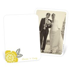 Custom Wedding Thank You Photo Cards -- Bold Beauty #peartreegreetings #weddingthankyoucards #weddingideas