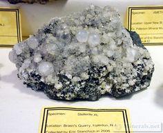 Stellerite crystals from Braen's Quarry, Haledon, NJ
