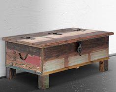 Truhe 107x60 Rest of Best Teak massiv Holz Möbel Box
