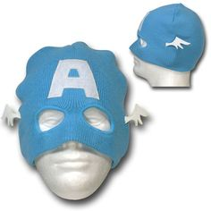 For many of us, winter is here and there's nothing like a unique hat to help get your mind off the bitter cold. The Captain America Mask Costume Beanie is a fun way to transform those cold days into superhero themed adventures.