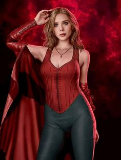 Marvel Women, Marvel Girls, Marvel Heroes, Marvel Characters, Marvel Dc, Scarlet Witch Costume, Scarlet Witch Marvel, Wanda Marvel, Elizabeth Olsen Scarlet Witch