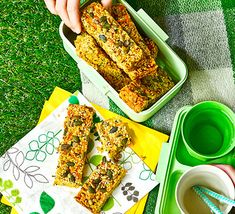 Seeded cheese and chive flapjacks Bacon Sandwich, Paleo Meal Plan, Baking Tins, Seeded, How To Make Cheese, Pavlova, Convenience Food, Organic Recipes, Paleo Recipes